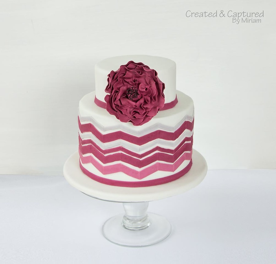 Chevron Cake on Cake Central