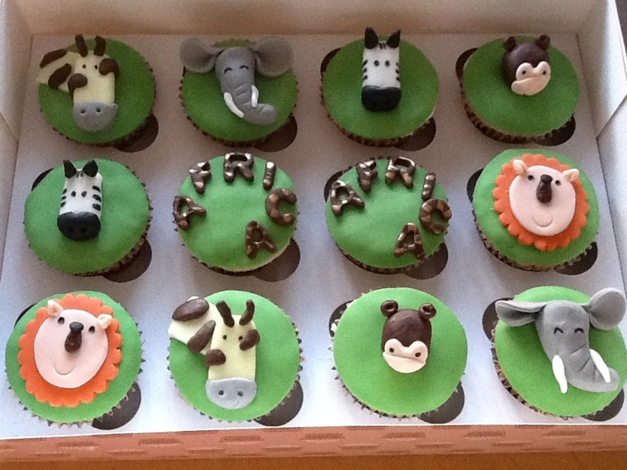 African Animals Cupcakes  on Cake Central