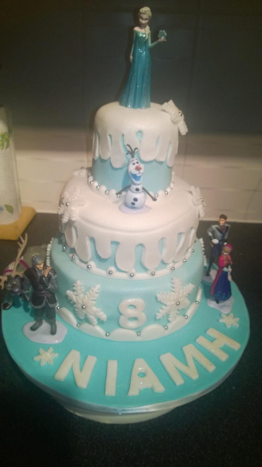 Disney Frozen 3 Tier Birthday Cake Cakecentral Com