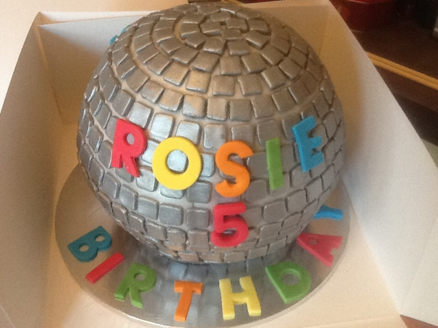 Chocolate Disco Ball Cake Loved Making This Cake And Was ...
