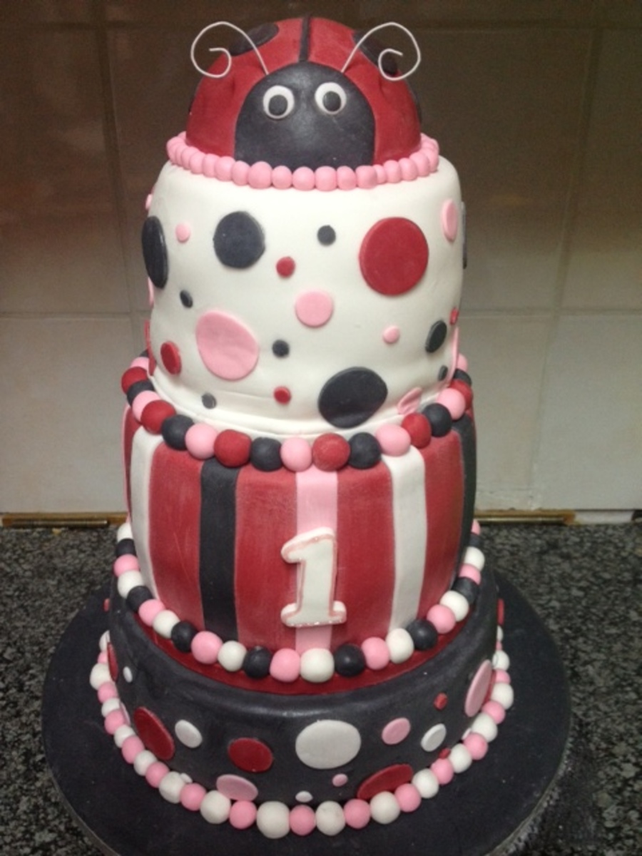 Lady Bug Cake Black Amp Red on Cake Central
