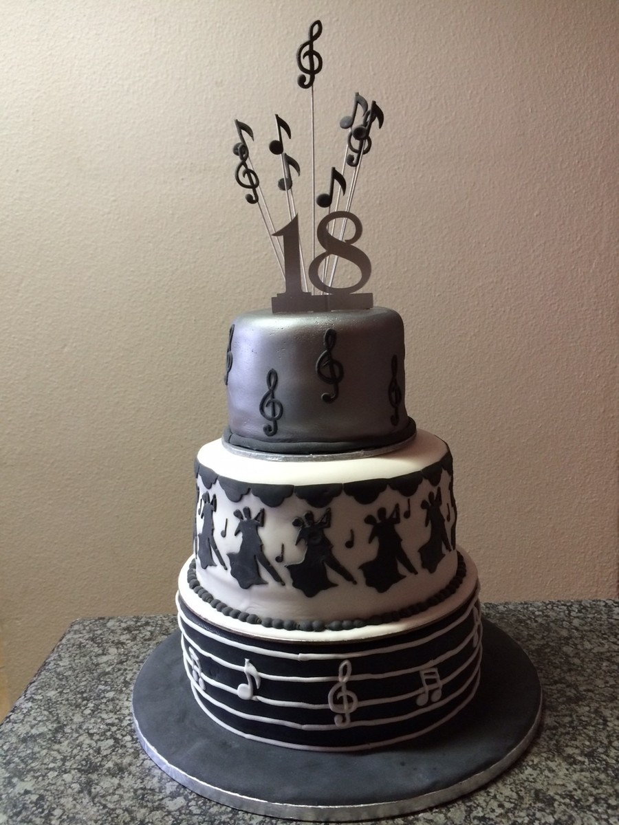 18th Birthday Music Note Cake Cakecentral Com