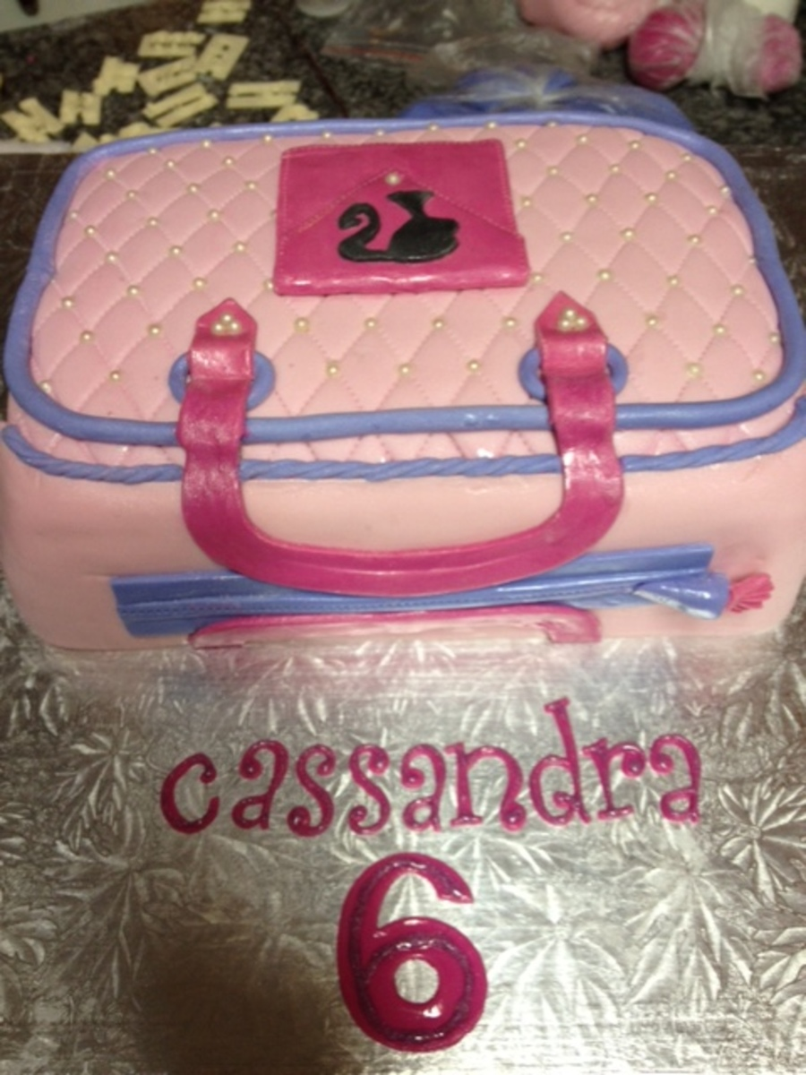 Barbie Bag Cake on Cake Central
