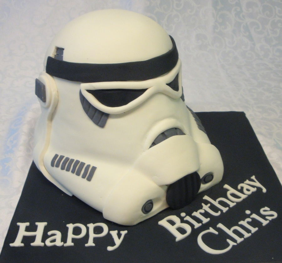 Stormtrooper Helmet ( Chocolate Cake) on Cake Central