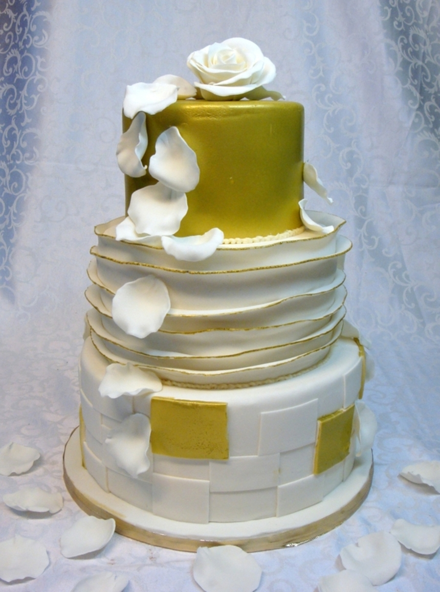 50Th Anniversary Wedding Cake - CakeCentral.com
