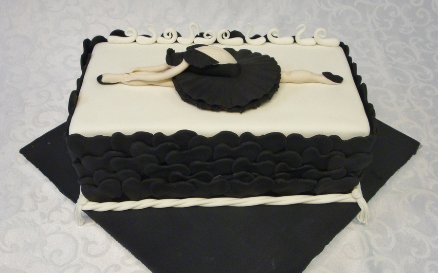 Swan Lake Chocolate Cake on Cake Central