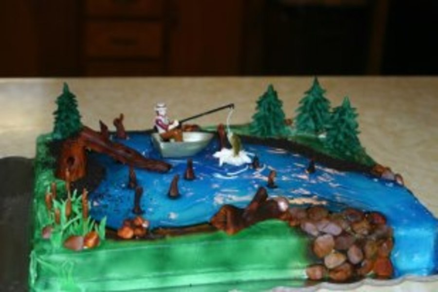 Fisherman Cake on Cake Central
