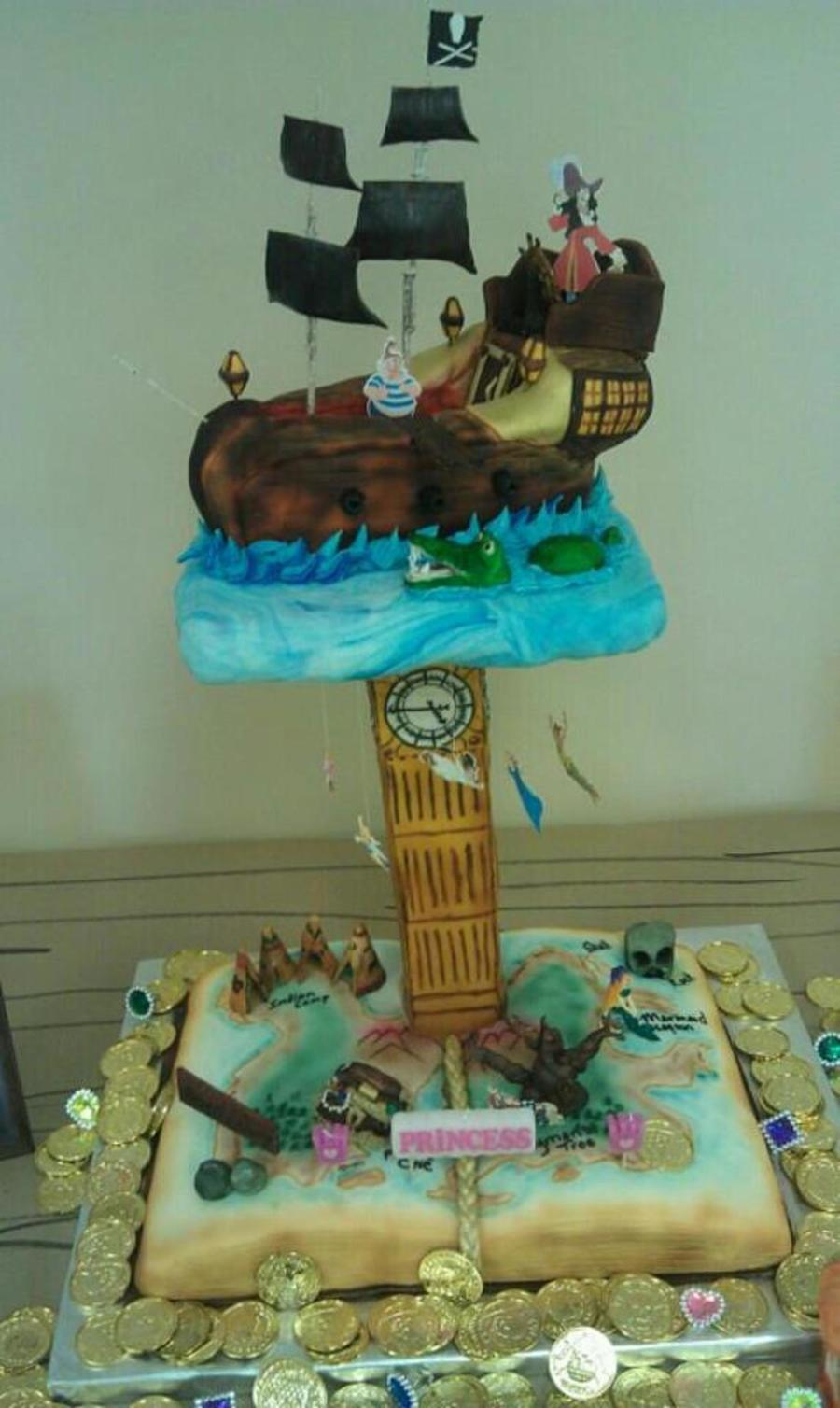 Peter Pan Pirate Ship Cake on Cake Central