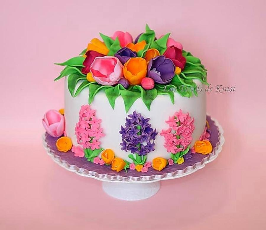 Spring Flowers Cake on Cake Central