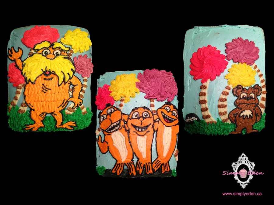 Lorax Sheet Cake Collection on Cake Central