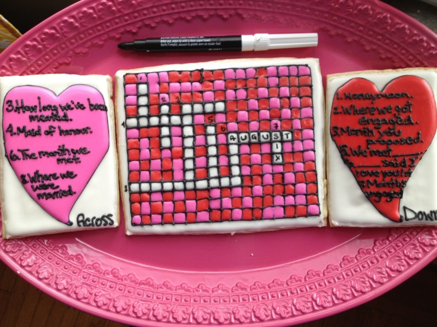 Valentines Day Crossword Puzzle on Cake Central