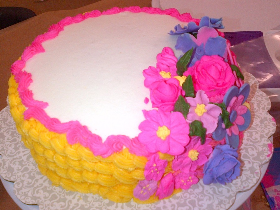 My Name Is Emily Love Im 9 Yrs Old And I Like To Make Cakes This Is My Cake I Made To Pass Wilton Course 2  on Cake Central