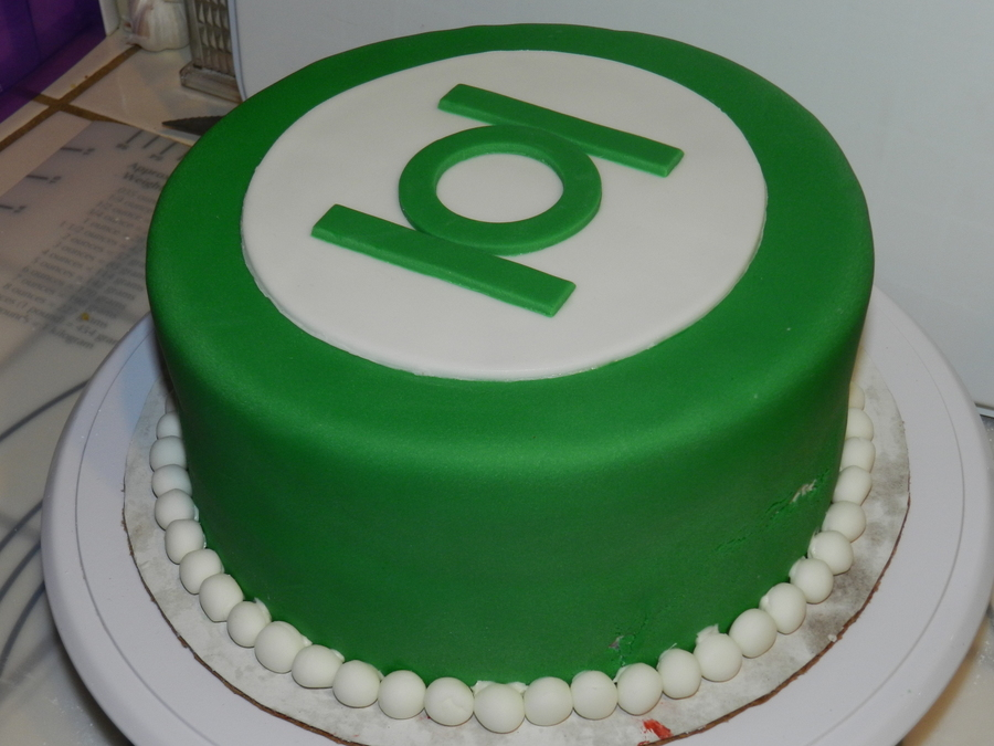 Astonishing Green Lantern Cake Godbrothers Birthday 2012 Cakecentral Com Funny Birthday Cards Online Amentibdeldamsfinfo