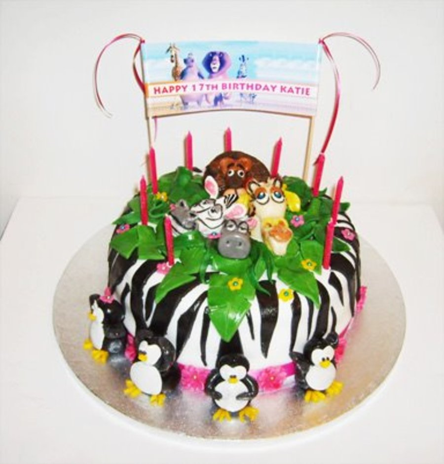 Madagascar Zebra Print Cake on Cake Central