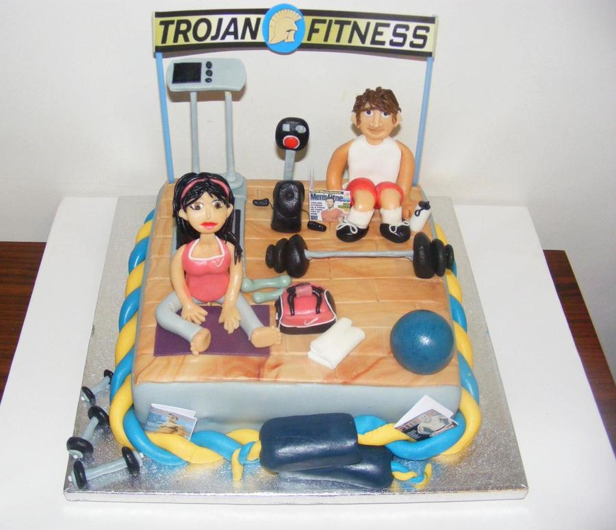 Gym Fitness Cake on Cake Central