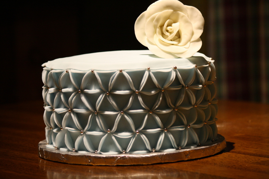 Floral Origami Cake Created From Fondant Circles Which Are Pleated Into Triangles And Placed In Alternating Directions Rose Made Of Model on Cake Central