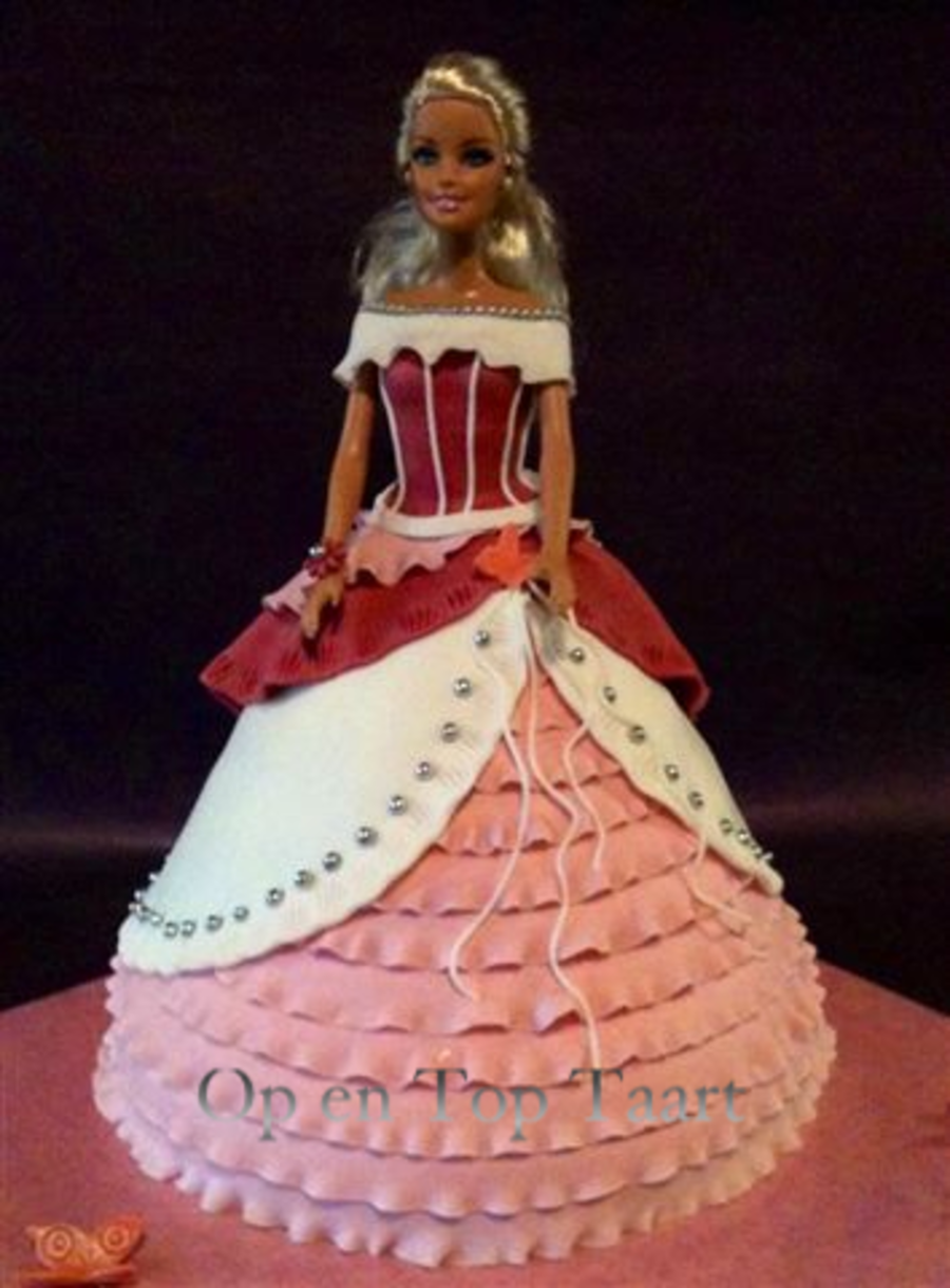Barbie Princess-Cake With Ruffles on Cake Central