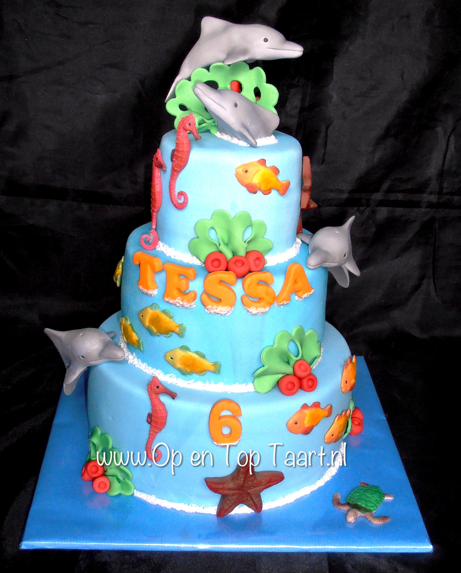 Dolphin Themed Birthday Cake Cakecentral