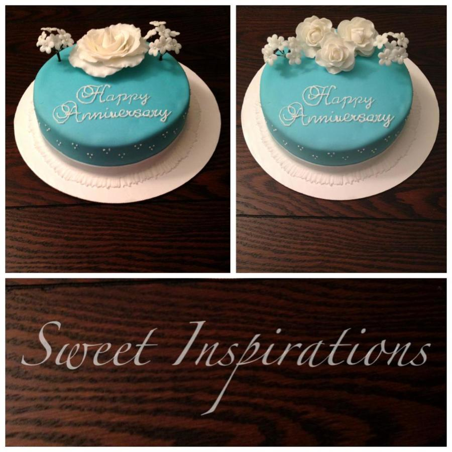 Anniversary Teal on Cake Central