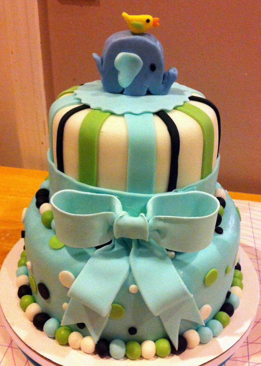 Elephant Baby Shower Cake (By 3 Sweet Cakes) on Cake Central