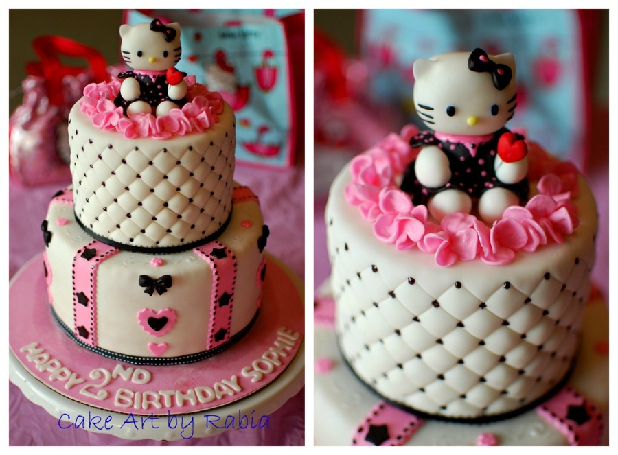 For A Pinkblack White Hello Kitty Themed Birthday Party All ...