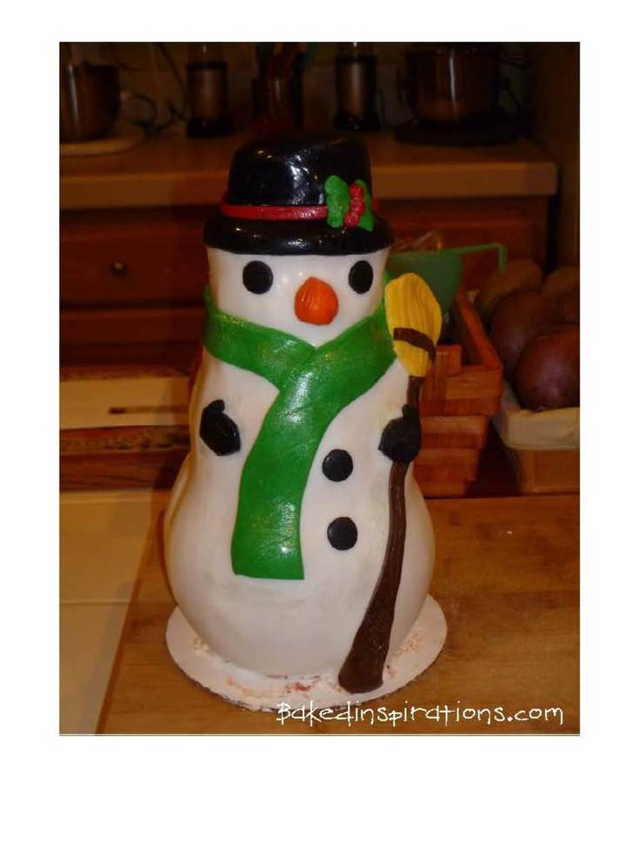 Baked Inspirations Snowman on Cake Central