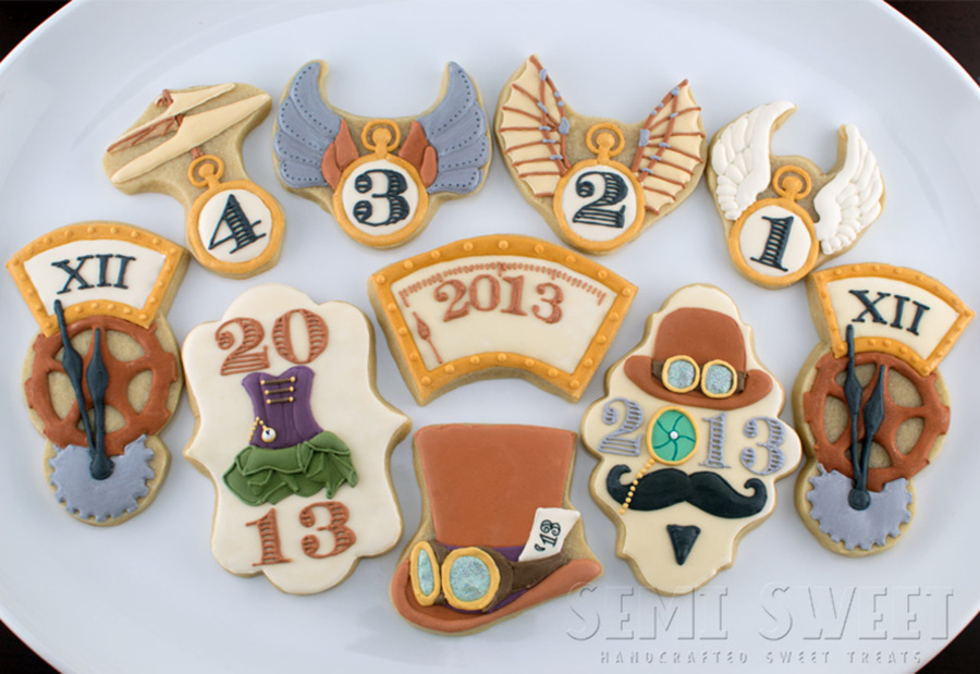 Steampunk New Year's Eve Cookies on Cake Central