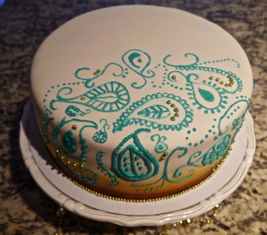 Inspired By An Indian Sari Pattern on Cake Central