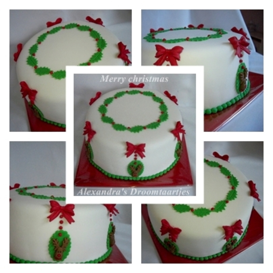 Christmas Cake  on Cake Central