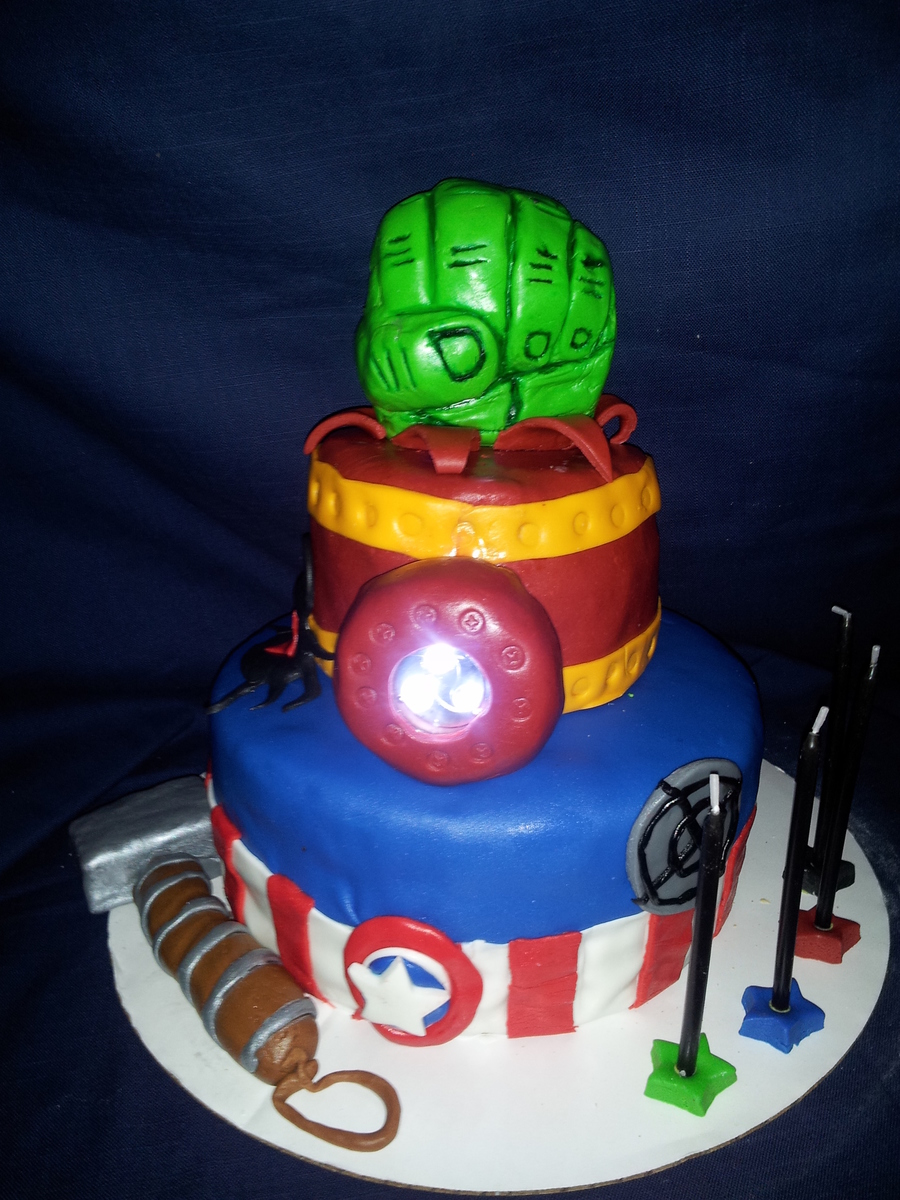 The Avengers Cake First Cake Attempted Cakecentral Com