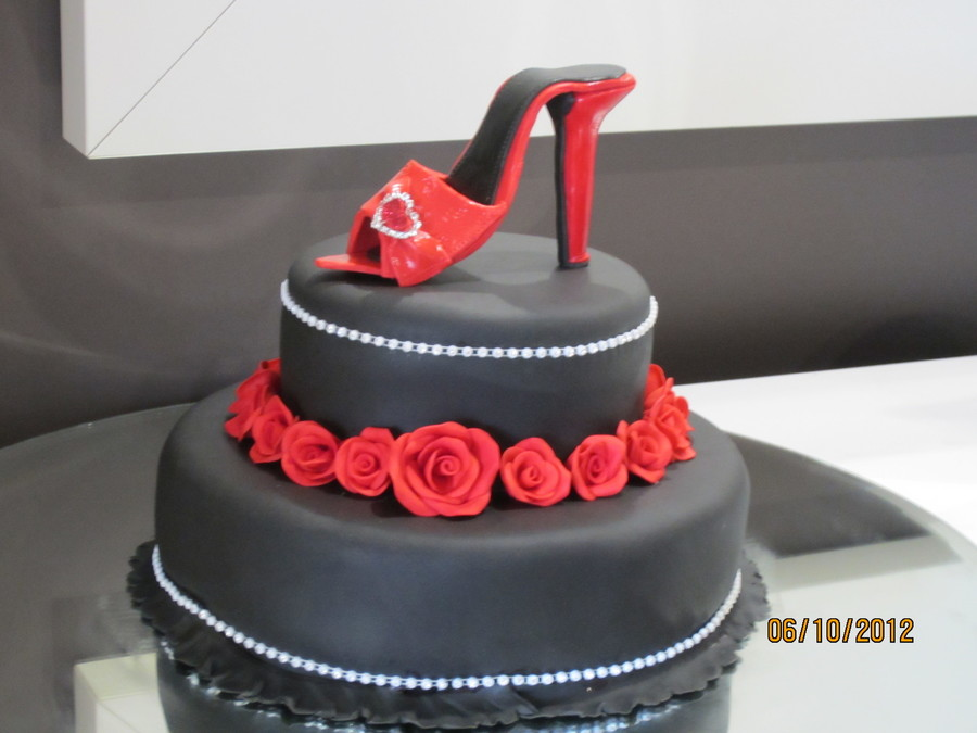 Black And Red Cake 002Jpg on Cake Central