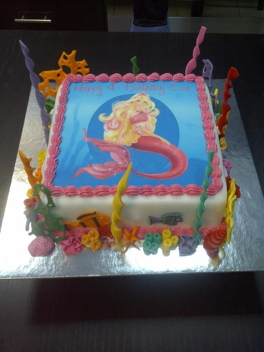 Barbie Mermaid Cake on Cake Central