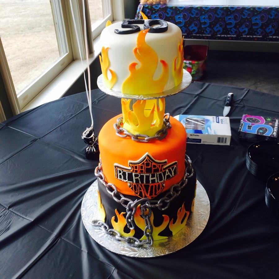 Harley Davidson Themed Birthday Cake Cakecentral Com
