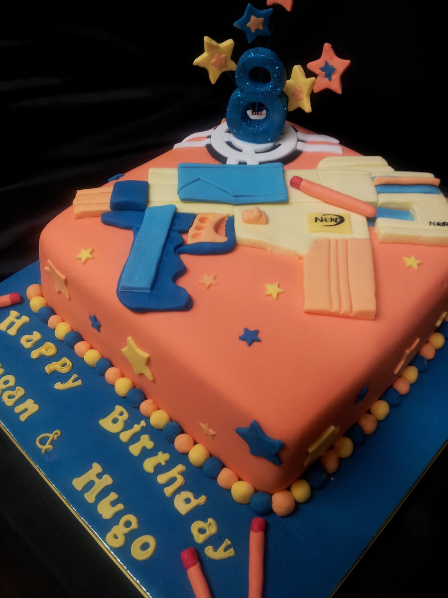 Gun Cake Decorating Ideas : Nerf Gun Cake - CakeCentral.com
