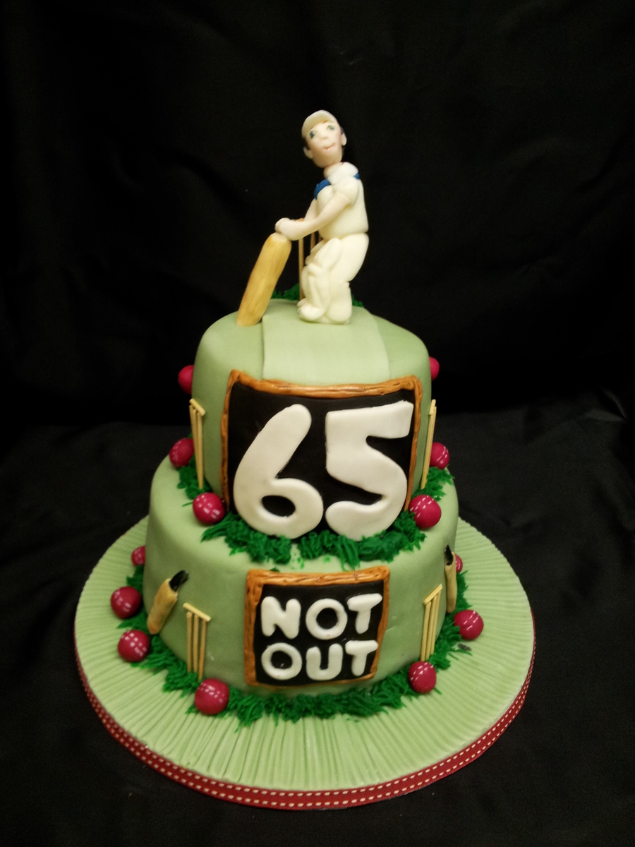 65th Birthday Cake Cricket Themed Cakecentral