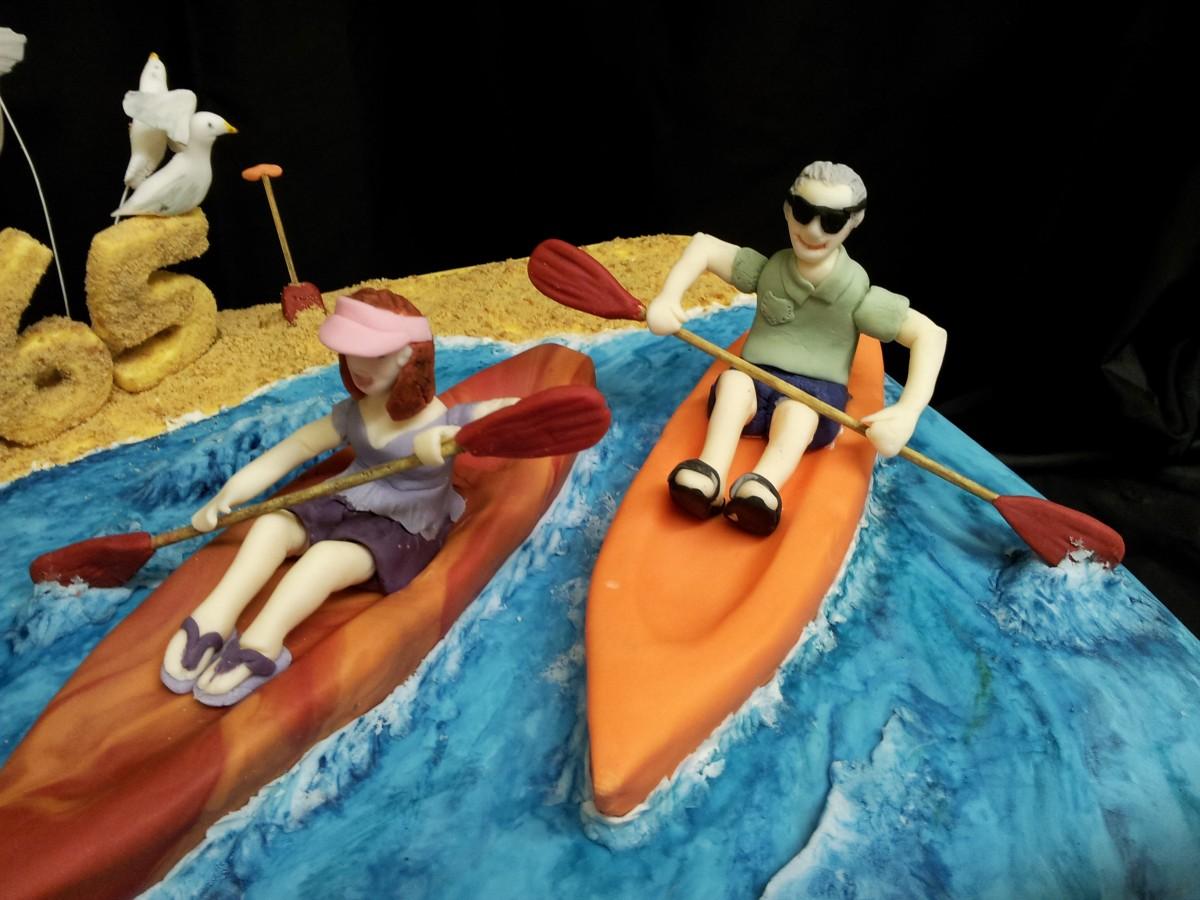 Kayak 65th Birthday Cake Cakecentral Com