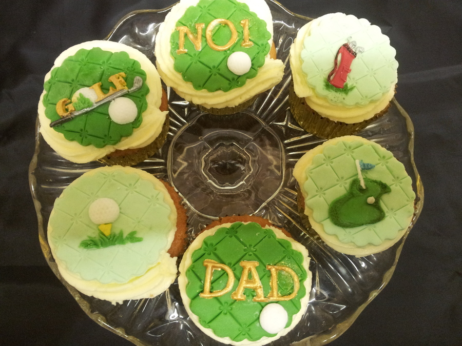 Golf Theme - Father's Day Cupcakes on Cake Central