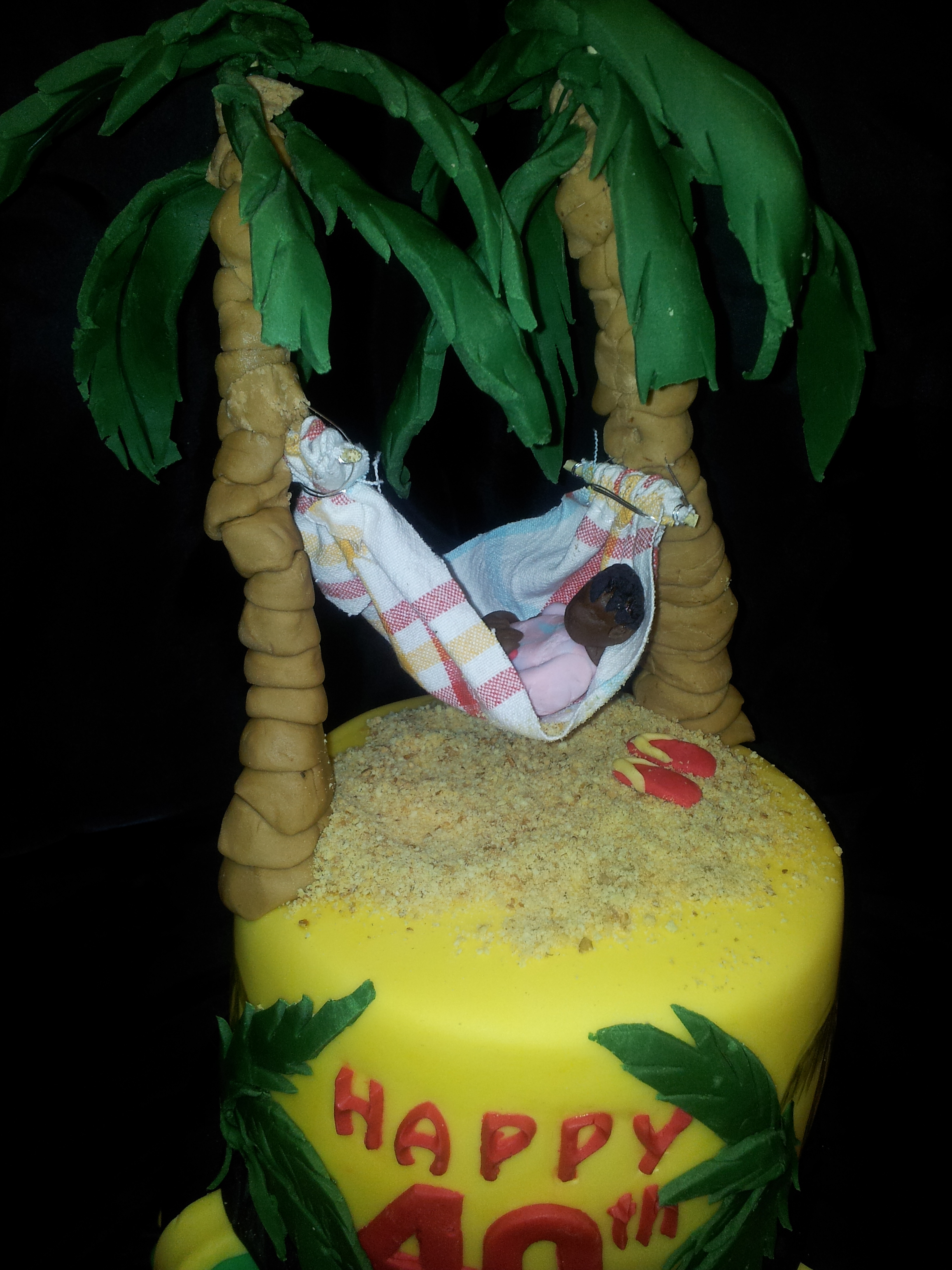 Enjoyable 40Th Birthday Cake Jamaican Themed Cakecentral Com Personalised Birthday Cards Paralily Jamesorg