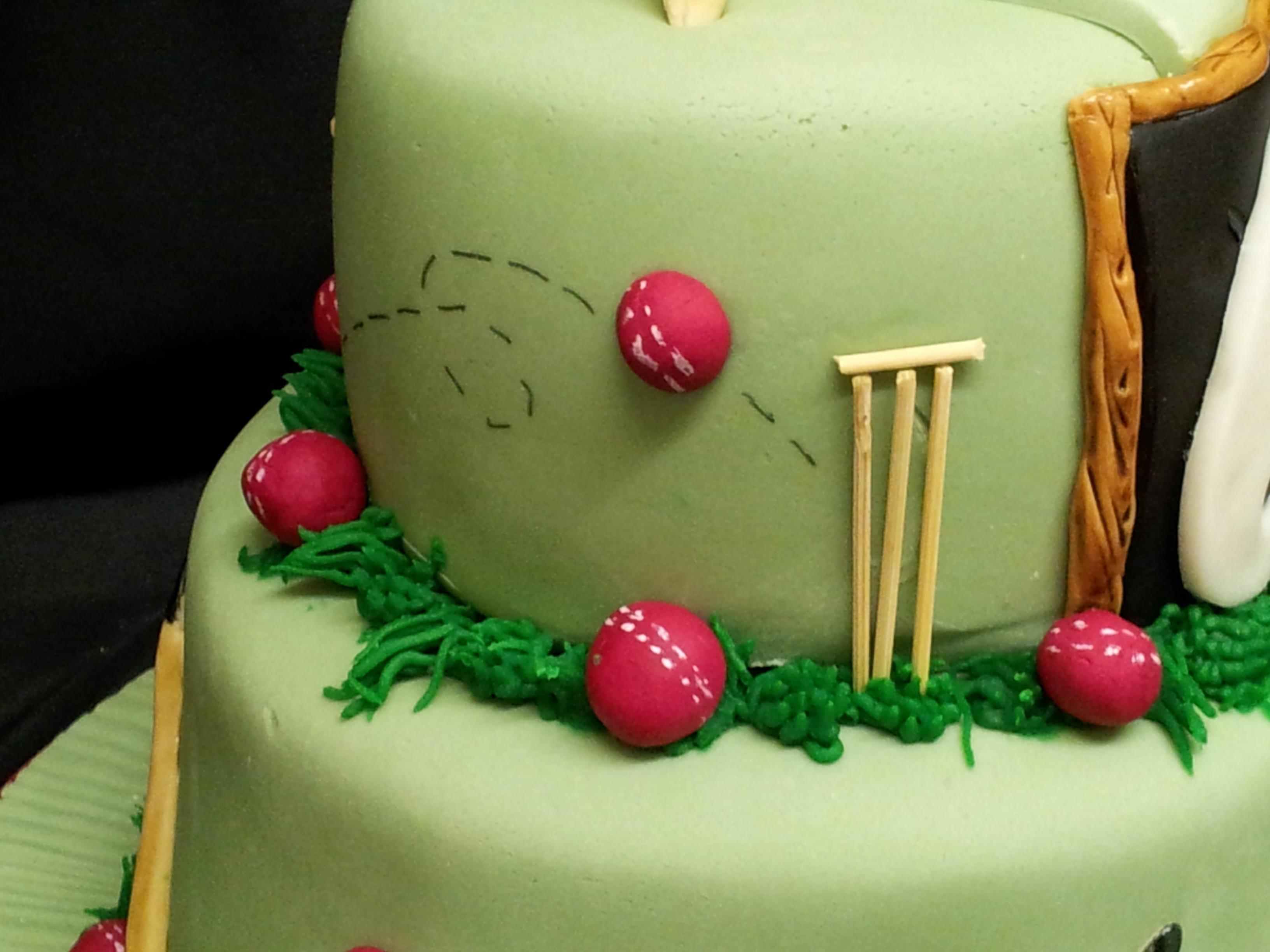 Th Birthday Cake Cricket Themed CakeCentralcom