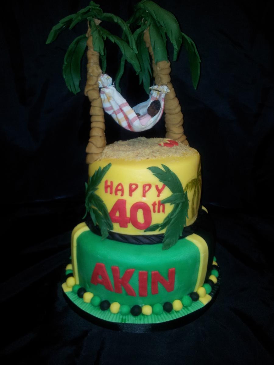 40Th Birthday Cake Jamaican Themed CakeCentralcom