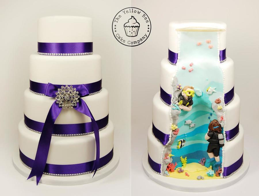 Hidden Design Cake Ideas : Hidden Scene Wedding Cake - CakeCentral.com