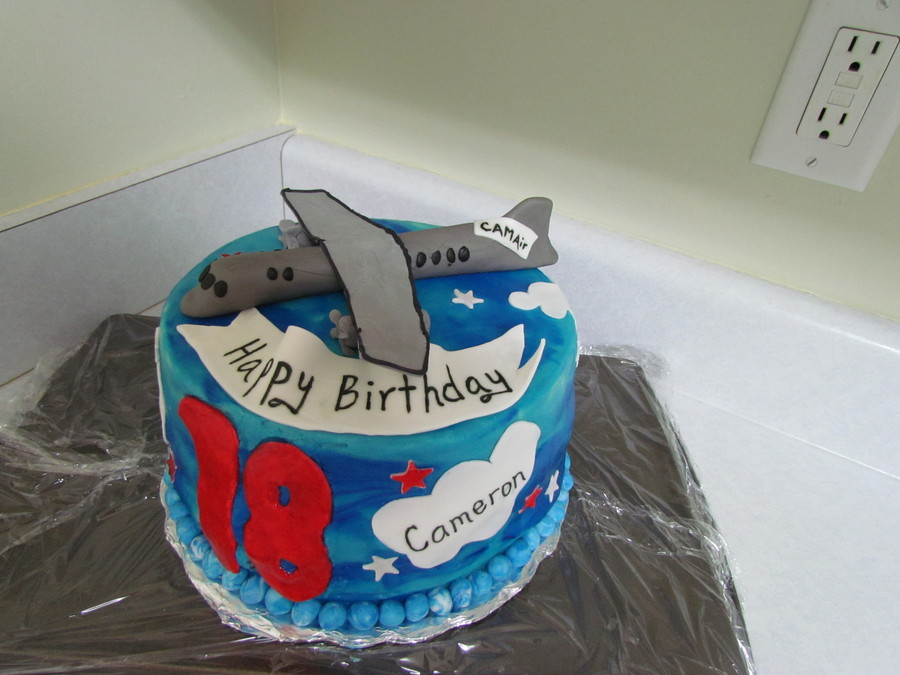 Awe Inspiring Airplane 18Th Birthday Cake Cakecentral Com Funny Birthday Cards Online Alyptdamsfinfo