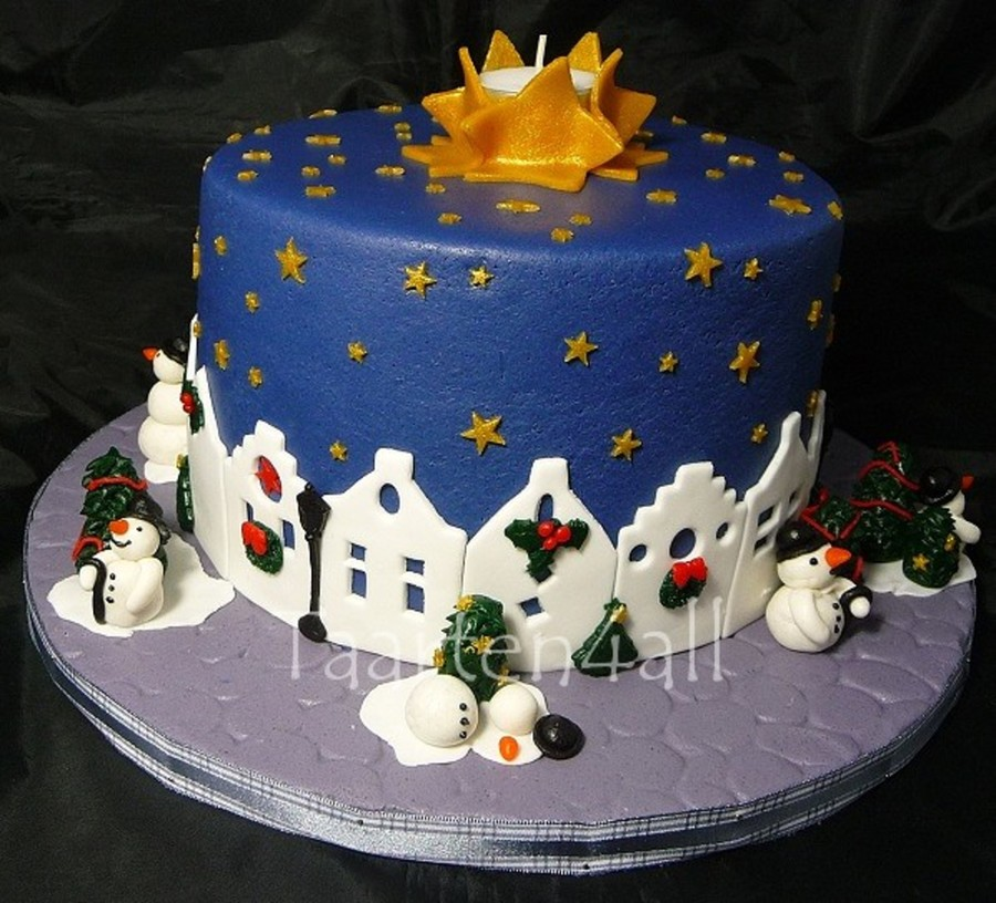 Kersttaart Boek Bordermaker on Cake Central