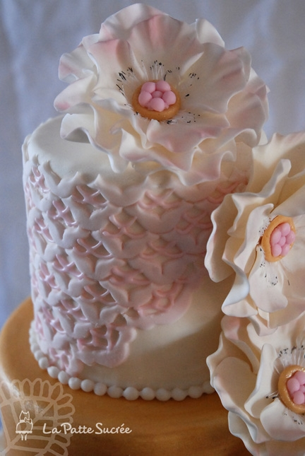 My First Wedding Cake Romantic And Art Deco Inspiration ...