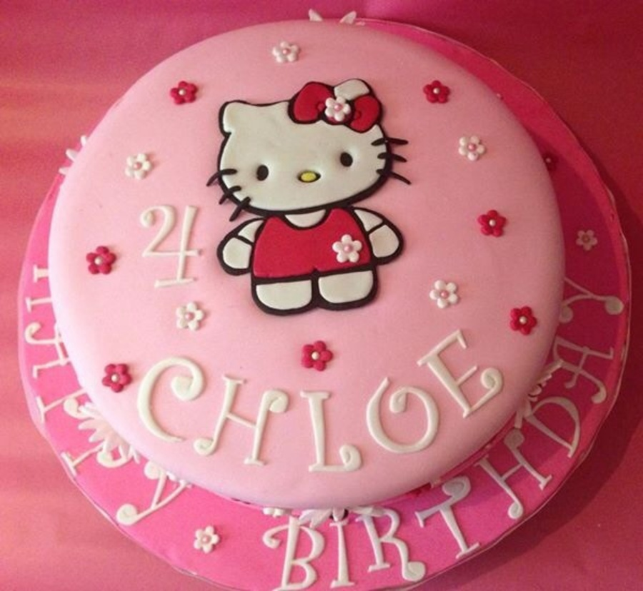Hello Kitty 4th Birthday Cake Cakecentral Com
