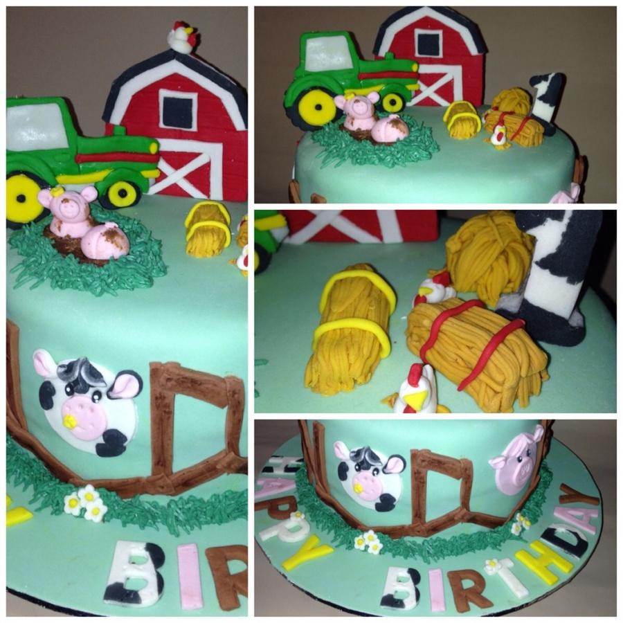 Peachy 1St Birthday Cake For A Boy Farm Theme Cakecentral Com Funny Birthday Cards Online Unhofree Goldxyz
