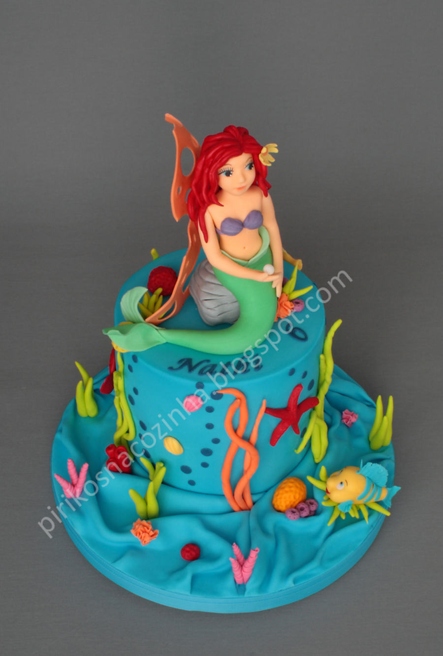 Princess ariel cake for Ariel cake decoration