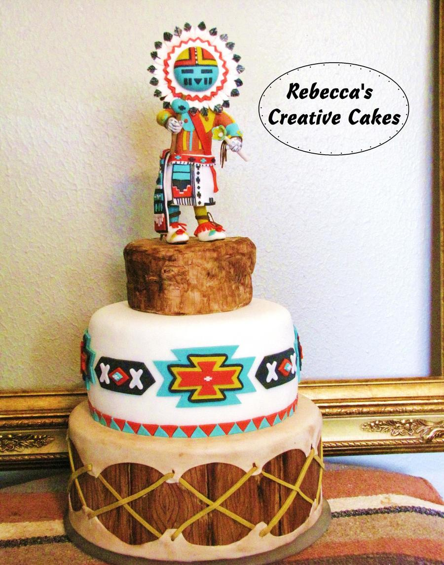 Native American Kachina On Drum Cake Cakecentral Com