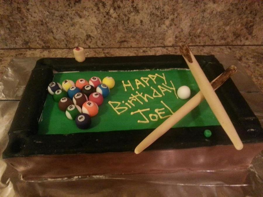 Fine Pool Table Birthday Cake Carrot Cake Cakecentral Com Personalised Birthday Cards Akebfashionlily Jamesorg