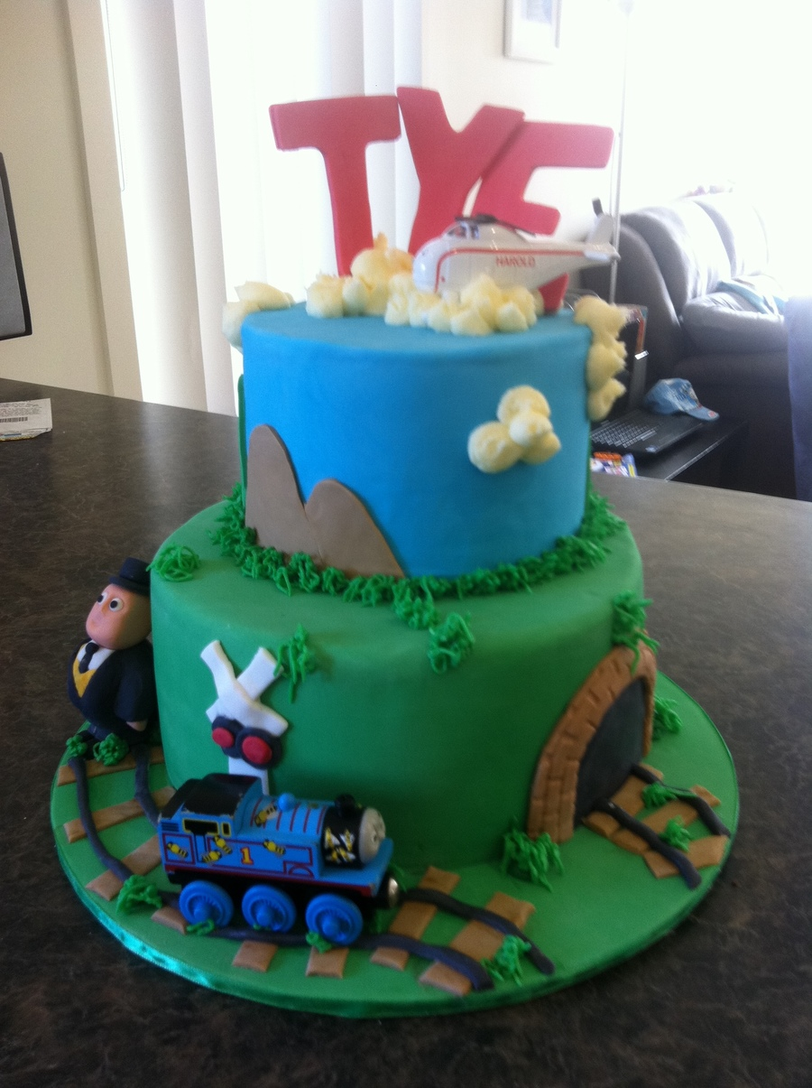 This Was My Sons Second Birthday Cake For His Party Bottom Tier